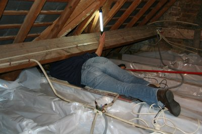 Attic roof insulation - vapor barrier