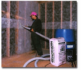 Wall insulation - injected cellulose - Montreal