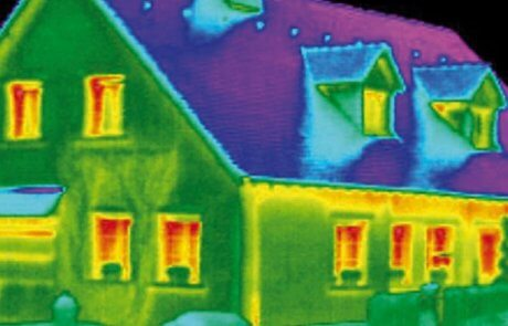 Thermographic imaging house inspection in Montreal