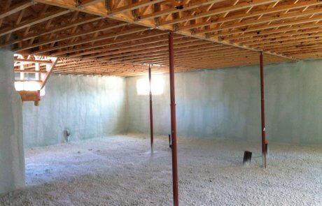 Basement insulation with spray foam