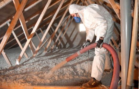 Attic insulation with cellulose in Brossard