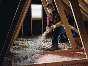 Attic insulation, Longueuil