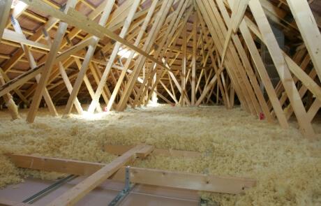 Isolation de toiture, combles situé à Laval - RénoVert