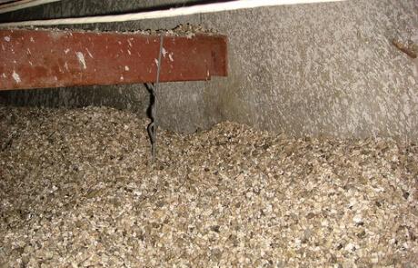Vermiculite dans le vide sanitaire, Montréal & Laval