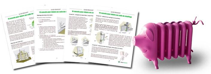Guide RénoVert - conseils pour réduire frais de chauffage - Isolation RénoVert