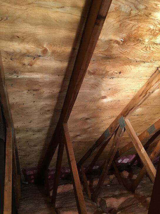 d contamination de moisissures dans l 39 entre toit montr al r novert. Black Bedroom Furniture Sets. Home Design Ideas