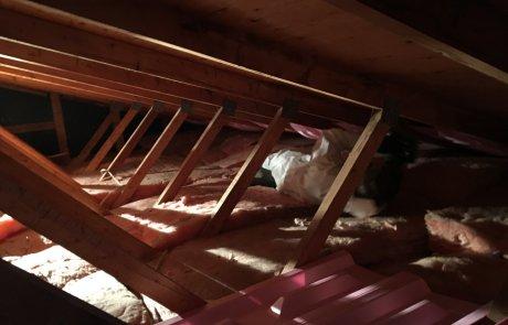 Isolation du toit, pose des styrovents