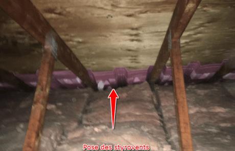 Isolation de toit, styrovents