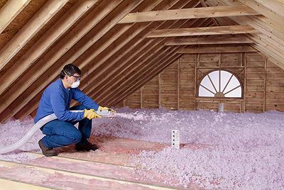 Isolation entre-toit, laine soufflée