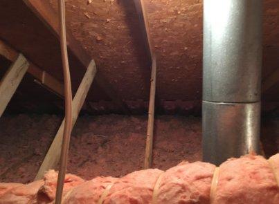 Isolation de toit, ventilation des soffites
