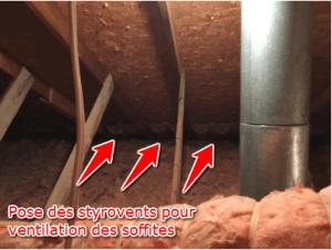 Isolation de toit, ventilation des soffites (2)