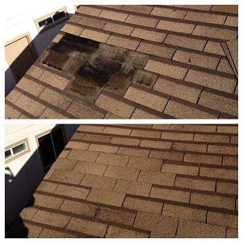 Réparation de toiture, Avant & après