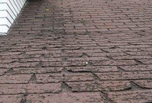 Réfection de toiture, bardeaux d'asphalte - usure