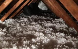 Isolation de toit à la laine de fibre de verre, Boucherville