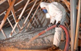 Isolation de toit - laine de fibre de verre, Boucherville