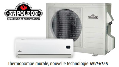 Thermopompe murale, Napoléon 9000 BTU - série NLIS
