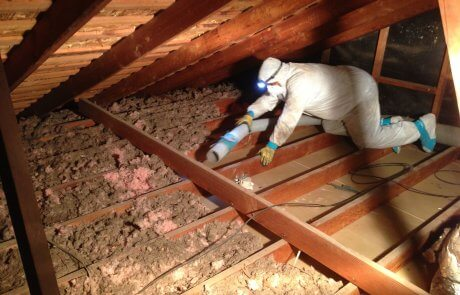 Enlèvement de vermiculite Drummondville, toit
