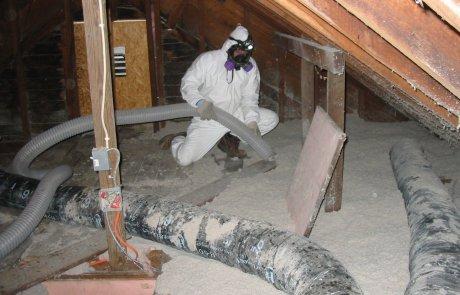 Enlèvement de vermiculite Drummondville, Entretoit