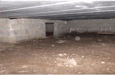 Rénovation de vide sanitaire sur terre