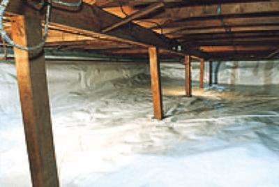 Décontamination de vide sanitaire, humidité
