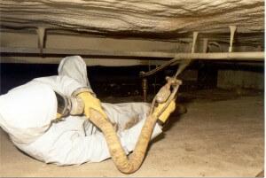 Entrepreneur, isolation du plafond du vide sanitaire
