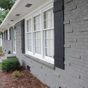 peinture de murs ext rieurs en briques espace r novert. Black Bedroom Furniture Sets. Home Design Ideas