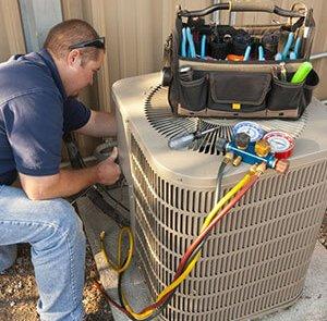 Réparation d'une air climatisé centrale